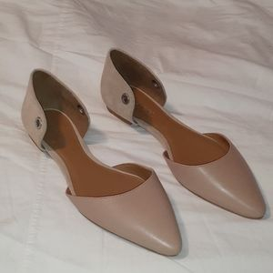 NWOT Tan Leather & Suede Coach Roy Flat Shoes 9½ B